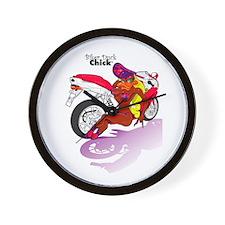 Biker Duck Chick Wall Clock