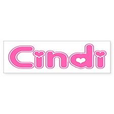 """""""Cindi"""" Bumper Bumper Sticker"""