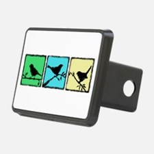 Silhouette Bird Triplet -Cool tones Hitch Cover