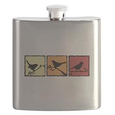 Silhouette Bird Triplet Flask