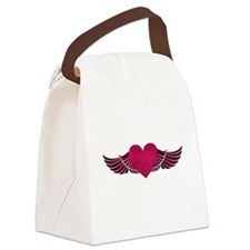 HeartWithWings.png Canvas Lunch Bag