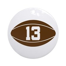 Rugby Player Number 13 Ornament (Round)