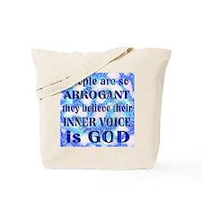 ARROGANT GOD Tote Bag