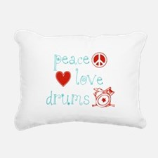 PeaceLoveDrums.png Rectangular Canvas Pillow