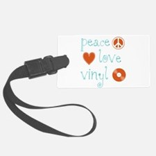 PeaceLoveVinyl.png Luggage Tag