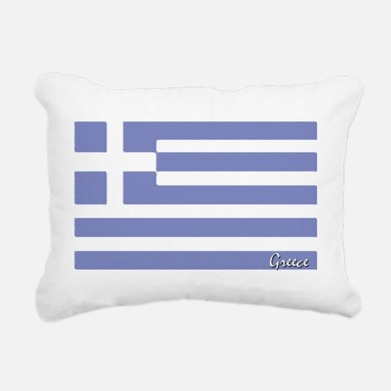 flag-greece.PNG Rectangular Canvas Pillow