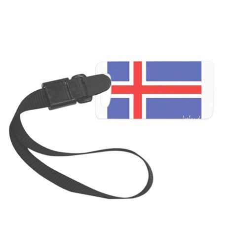 flag-iceland.PNG Small Luggage Tag