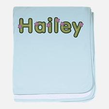 Hailey Spring Green baby blanket