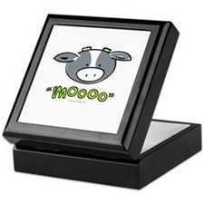 """Mooo"" Cow Keepsake Box"