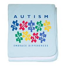 Autism Awareness baby blanket