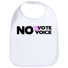 No Vote No Voice (Triangle) Bib