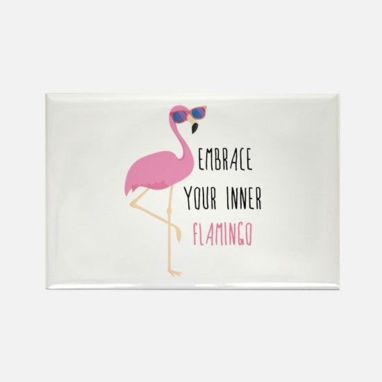 Embrace Your Inner Flamingo Rectangle Magnet