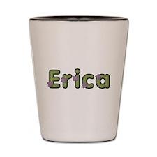Erica Spring Green Shot Glass