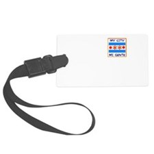 TAINO SUN IN THE CHICAGO FLAG Luggage Tag
