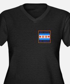 TAINO SUN IN THE CHICAGO FLAG Plus Size T-Shirt