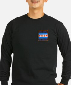 TAINO SUN IN THE CHICAGO FLAG Long Sleeve T-Shirt
