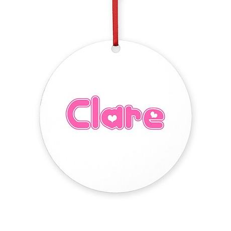 """""""Clare"""" Ornament (Round)"""