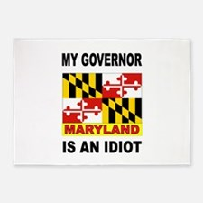 IDIOT GOVERNOR 5'x7'Area Rug