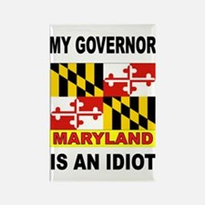 IDIOT GOVERNOR Rectangle Magnet