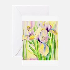 Miniature Gingerbread Iris Greeting Card