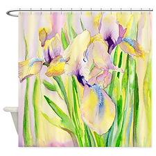 Miniature Gingerbread Iris Shower Curtain