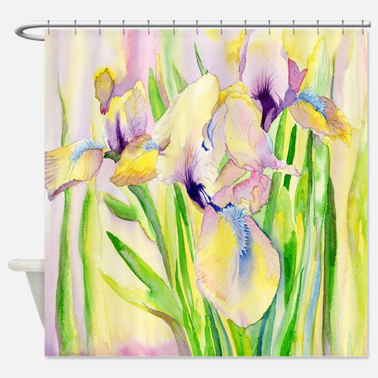 Miniature Gingerbread Iris Shower Curtain