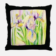 Miniature Gingerbread Iris Throw Pillow