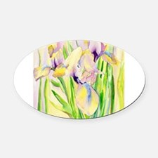 Miniature Gingerbread Iris Oval Car Magnet