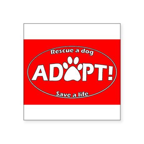 Adopt Sticker (Red) Sticker