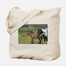 horses on the moor Tote Bag
