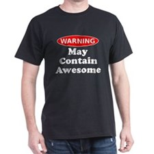 May Contain Awesome Warning T-Shirt