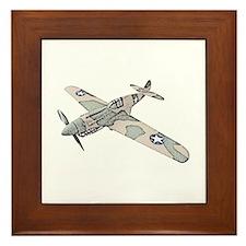 Curtiss P-40 Framed Tile