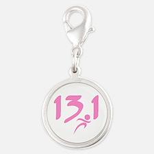 Pink 13.1 half-marathon Charms