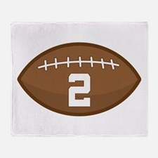 Football Player Number 2 Throw Blanket