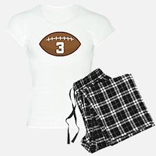 Football Player Number 3 Pajamas
