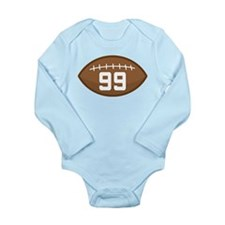 Football Player Number 99 Long Sleeve Infant Bodys
