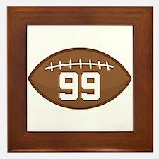 Football Player Number 99 Framed Tile
