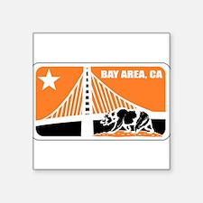 major league bay area orange Sticker