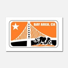 major league bay area orange Car Magnet 20 x 12