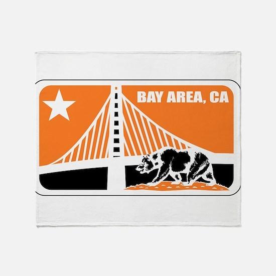 major league bay area orange Throw Blanket