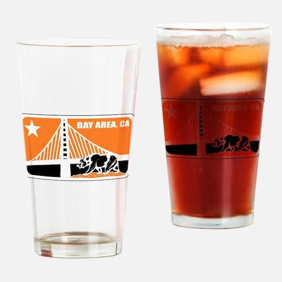 major league bay area orange Drinking Glass