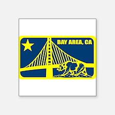 major league bay area blue gold Sticker