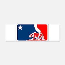 major league california bear plain Car Magnet 10 x
