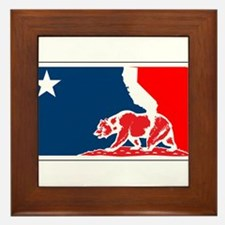 major league california bear plain Framed Tile