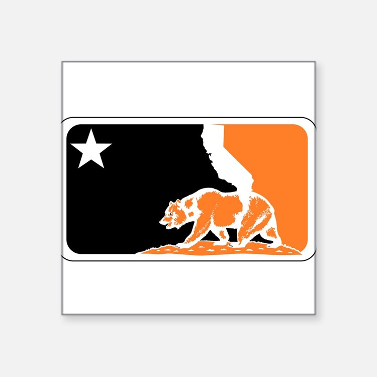 major league bay area orange plain Sticker