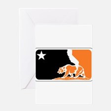 major league bay area orange plain Greeting Card