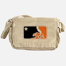 major league bay area orange plain Messenger Bag