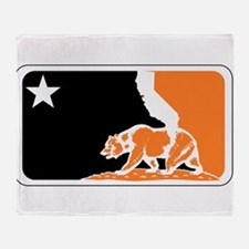 major league bay area orange plain Throw Blanket
