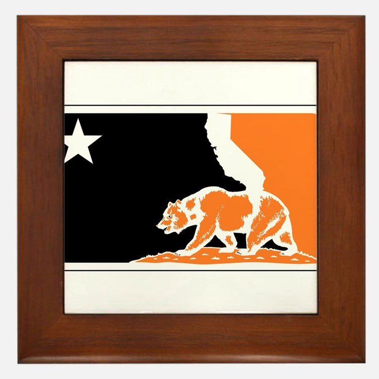 major league bay area orange plain Framed Tile