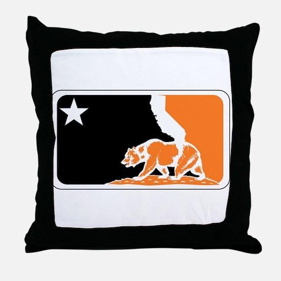 major league bay area orange plain Throw Pillow